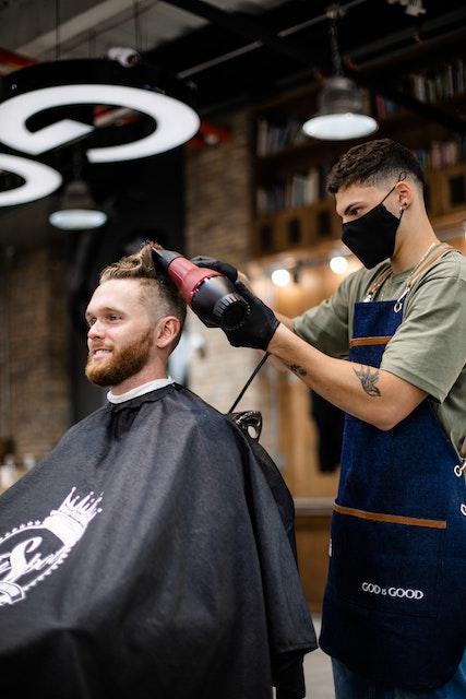Men in salon